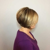 Carmel Blonde Highlights with a Graduated Bob