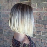 Blonde Balayage with a Classic Bob